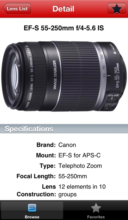 Canon Lens Buddy - Lenses for DSLR Cameras screenshot-3