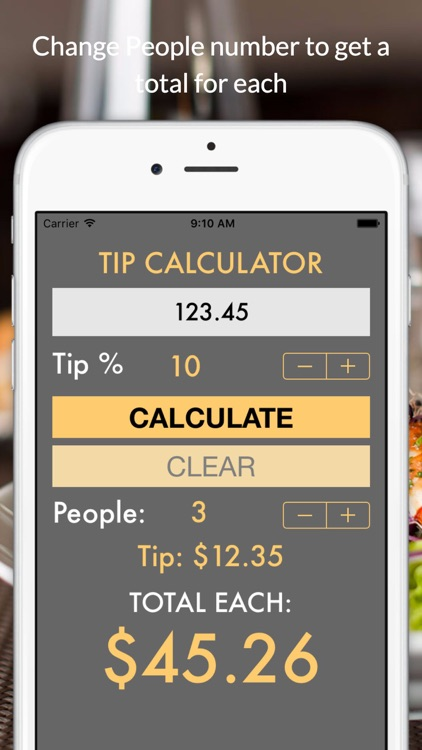 TipCalc quick tip calculator