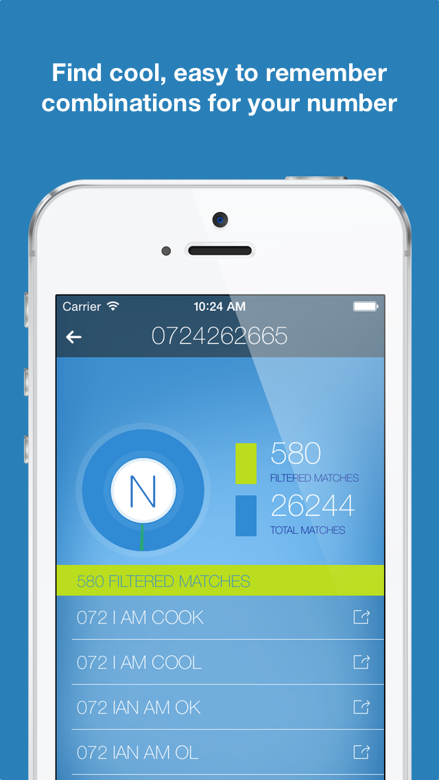 Numer | Mnemonic Phone Numbers screenshot three