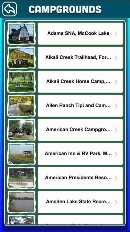 South Dakota Campgrounds & RV Parks