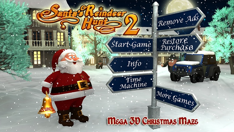 Santa's Reindeer Hunt 2 - Mega 3D Christmas Maze screenshot-4