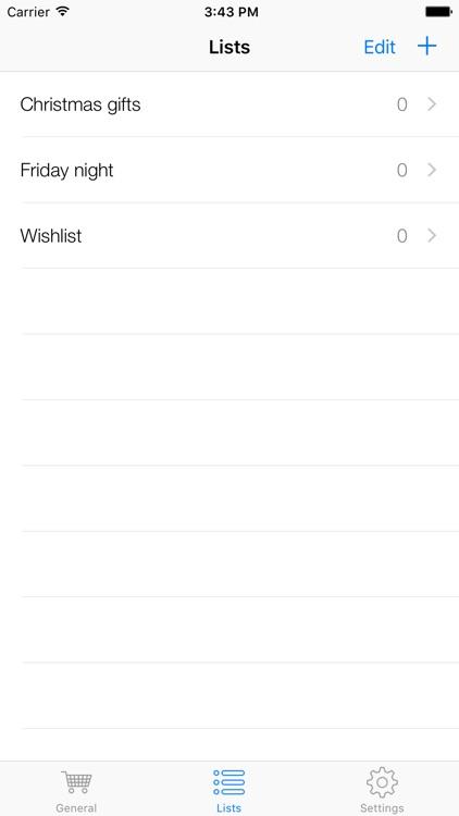 Grocery List - Free shopping list screenshot-3