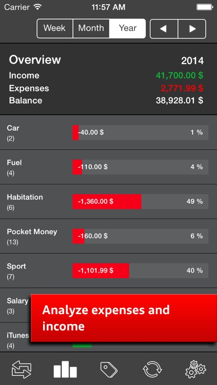 Money Log Ultimate Free - Save your pocket money, track expenses and income screenshot-1