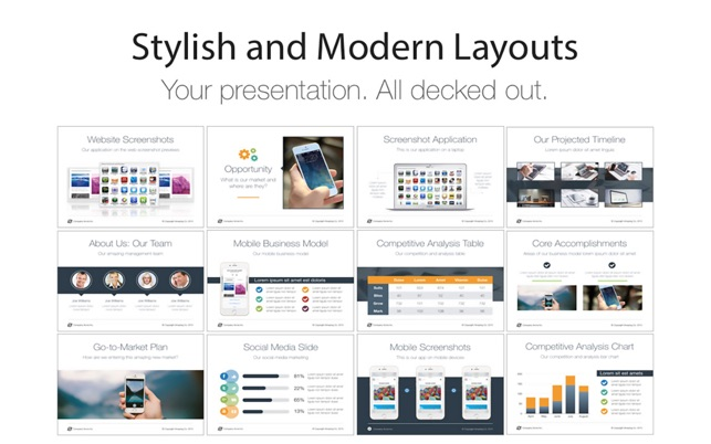 Pitch Deck Templates For Keynote On The Mac App Store - Keynote timeline template mac