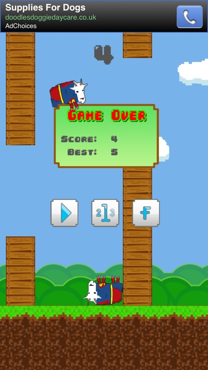 Super Goat: The Extreme FREE Flappy Hero screenshot-3