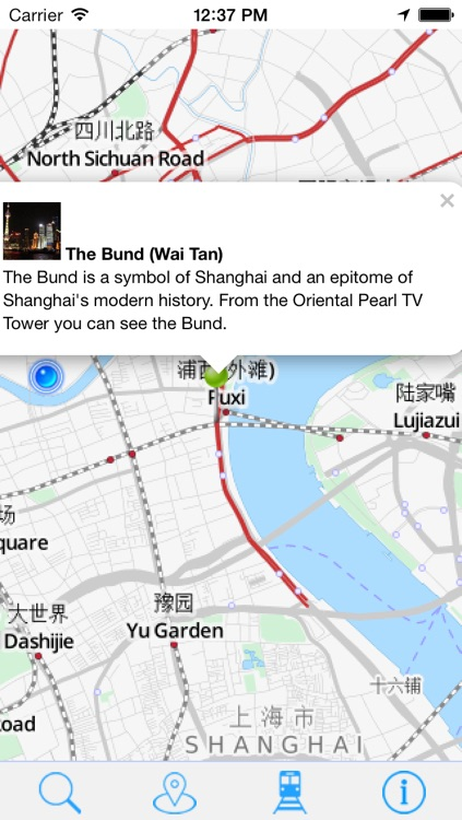 Offline Map Shanghai - Guide, Attractions and Transport screenshot-3