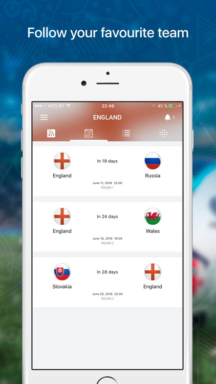 Euro Live — Scores & News for 2016 European Soccer Championship screenshot-2