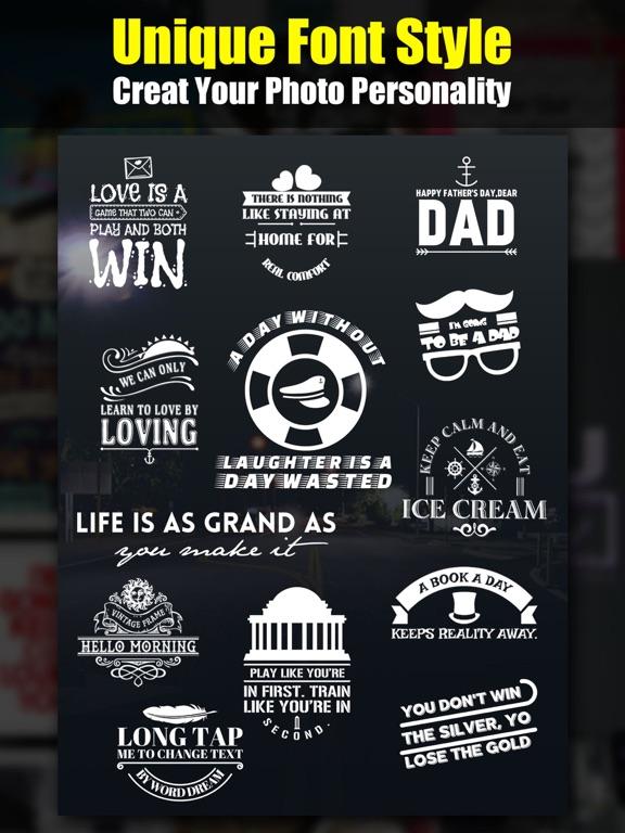 Word Dream Pro - Cool Fonts & Typography Generator Screenshots