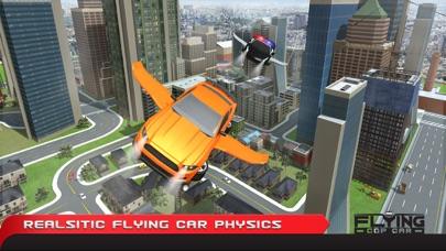 フライングコップカーシミュレーター3D - エクストリーム刑事警察車運転と飛行機のフライトパイロットシミュレータのおすすめ画像1
