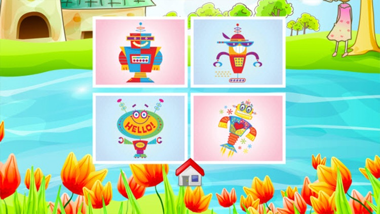 Robot Coloring Book - Drawing and Painting Colorful for kids games free screenshot-3