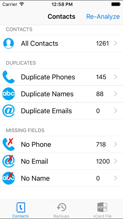 Contacts Cleanup 360 - Contacts Smart Filter & Backup