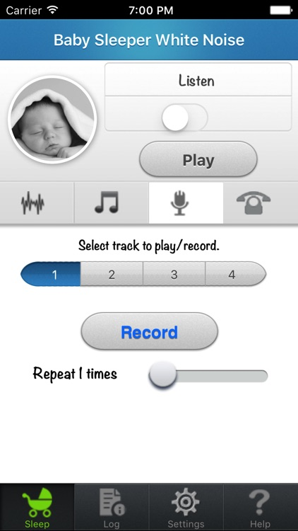 Baby sleeper: womb sounds and white noise for soothing and calming baby