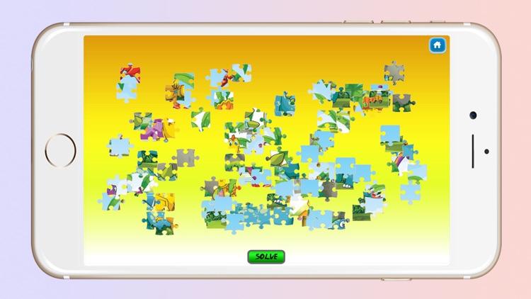 Dinosaur World Cartoon Jigsaw Magic Puzzle Fun Game for Kids screenshot-4
