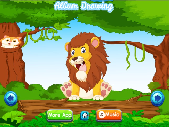 Animal Coloring Book Zoo for Kids and Preschool Toddler Games for Free