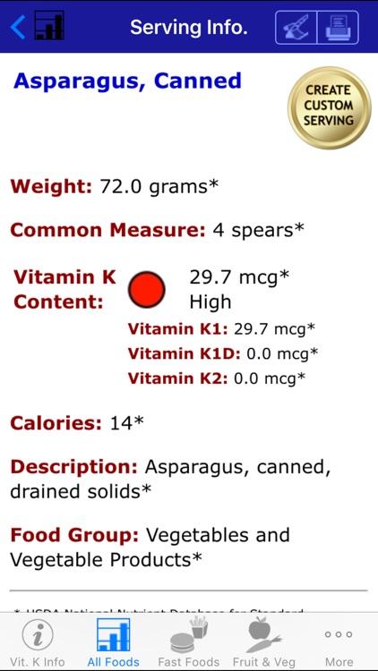 Vitamin K - iNutrient: Vitamins K1, K1D & K2 screenshot-3