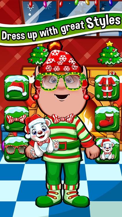 Christmas Salon Spa & Hair Makeover Games for Kids screenshot-3