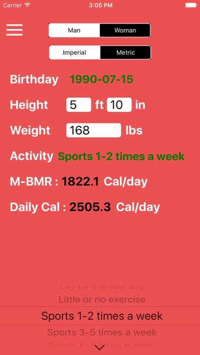 Daily calorie & bmr calculator diet plan,healthy watcher | app.