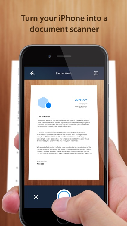 Tiny Scanner - PDF scanner to scan document, receipt & fax screenshot-0