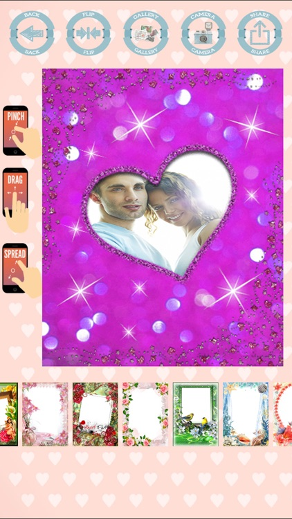 Love frames to create cards with photos