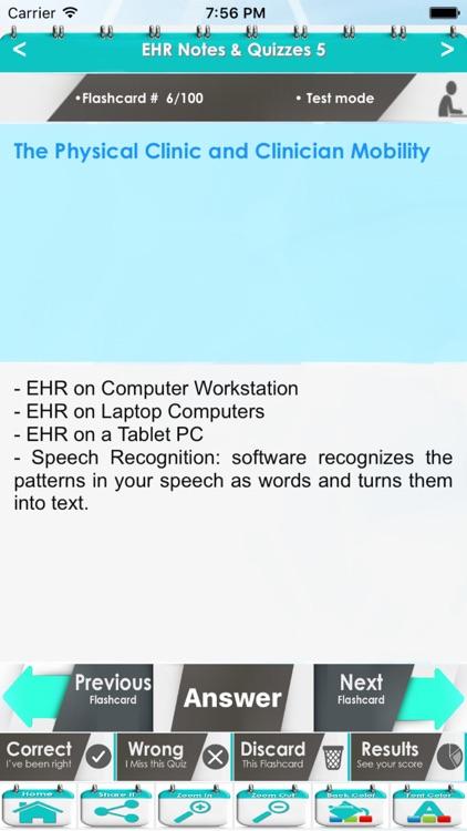 Electronic Health Record (EHR) 4600 Flashcards Study Notes, Exam Prep, Terms & Quiz screenshot-3