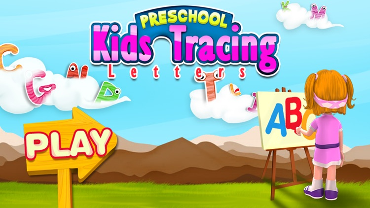 Preschool Kids Tracing Letters