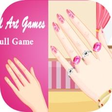 Activities of Girls Games : Nail Art Salon Full Game