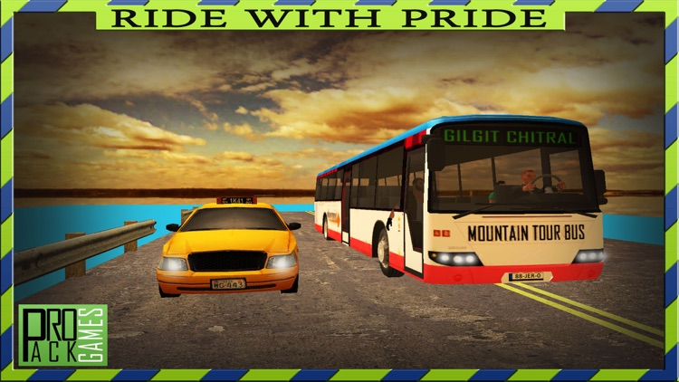 Dangerous Mountain & Passenger Bus Driving Simulator cockpit view - Dodge the traffic on a dangerous highway screenshot-3