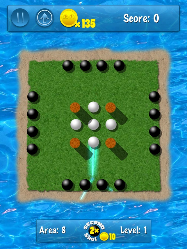 Knock It - Dodge Ball, Billiards, Golf and Checkers in One Game Screenshot
