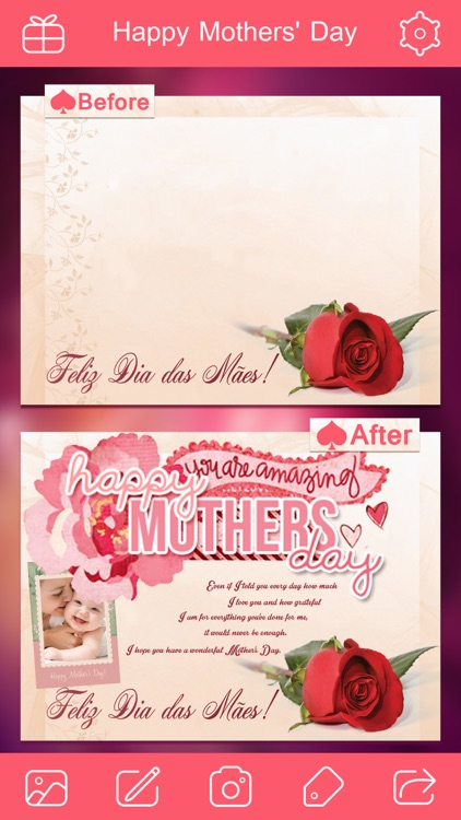 Mother's Day Photo Frame.s, Sticker.s & Greeting Card.s Make.r HD screenshot-4
