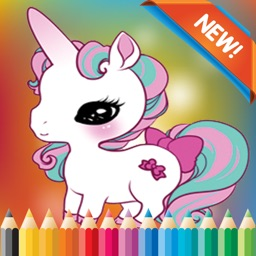My Unicorn Coloring Book for children age 1-10: Games free for Learn to use finger to drawing or coloring with each coloring pages