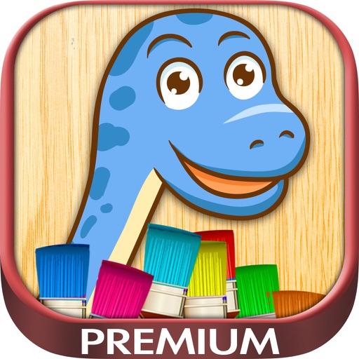 Colorear dinosaurios - juegos de dinos para pintar - Premium