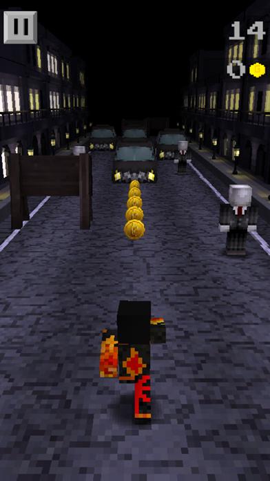 Pixel Runner - 3D Mini Run Game Slenderman edition screenshot four