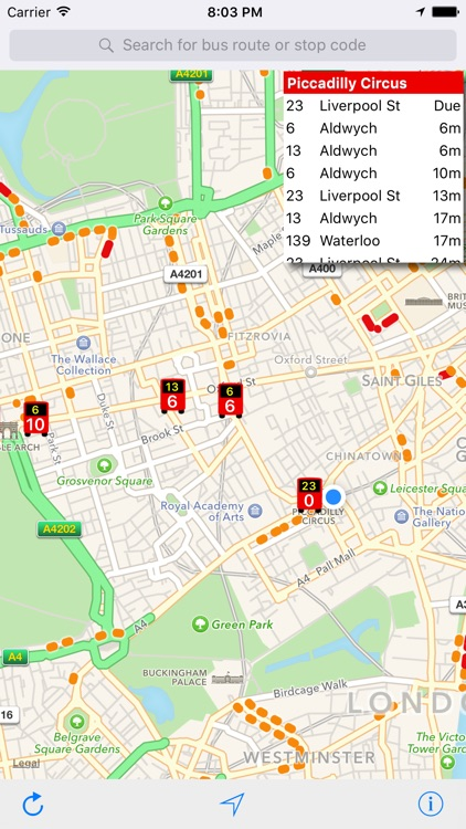 London Live Bus Map - Countdown and Arrivals screenshot-4