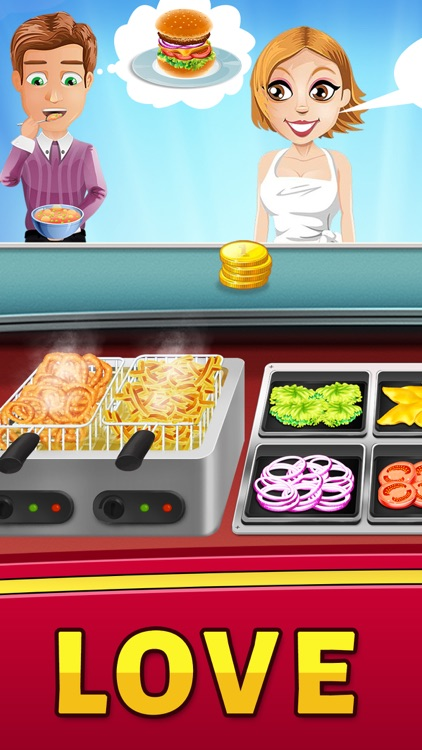 Food Court Hamburger Fever 2: Burger Cooking Chef screenshot-0