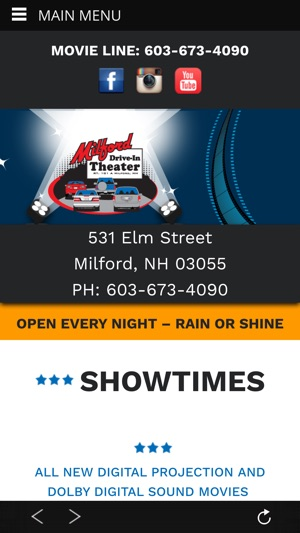 milford drive in theater on the app store