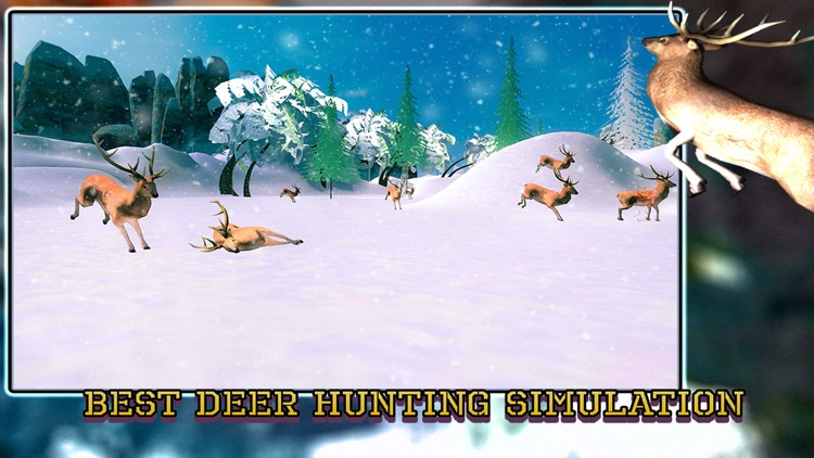 Sniper Deer Hunting Pro - Hunt Wild Jungle Animals in the Extreme Winter screenshot-3