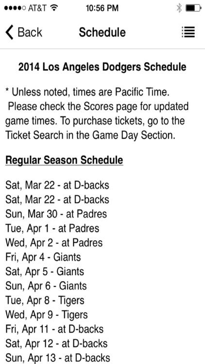 Los Angeles Baseball - a Dodgers News App LA