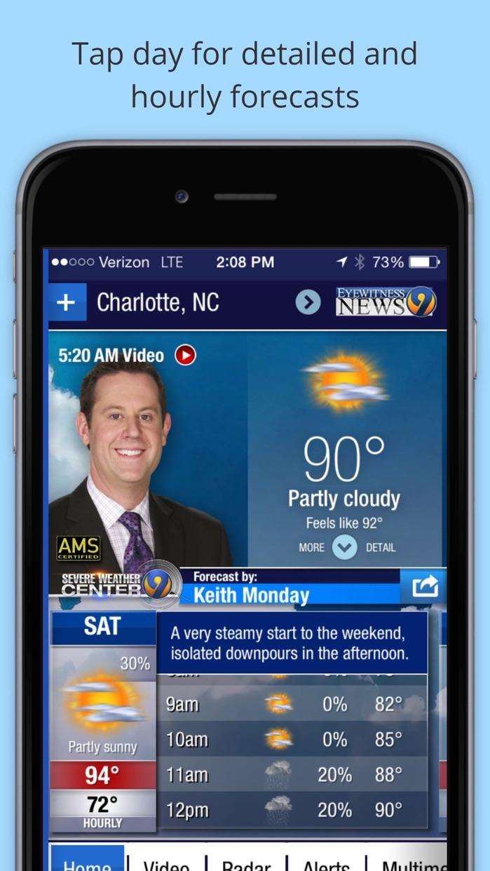 WSOC-TV Channel 9 Weather App Screenshot