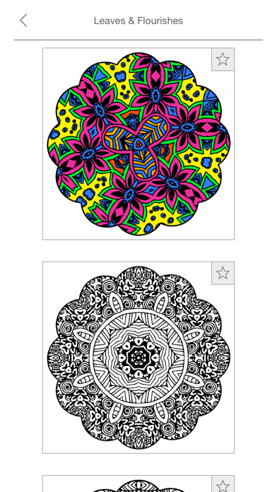 Mandalas to Color - Stress Relievers Relaxation Techniques Coloring Book for AdultsScreenshot of 5