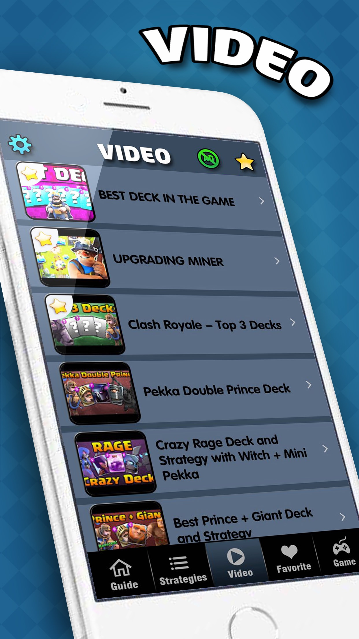 Gems Guide - for Clash Royale : Deck Buidler, Chest Checker & Video Screenshot