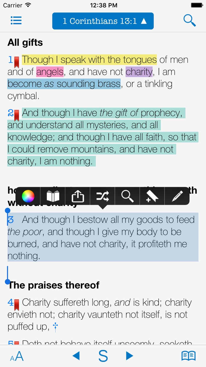 Strong's Concordance and KJV Bible Screenshot