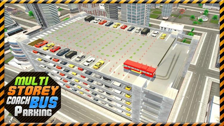 Multi-Storey Coach Bus Parking 3D: City Auto-bus Driving Simulator