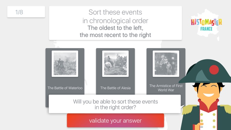 HistoMaster France: Learning History of France is Fun - Free app - Quiz Game - Freemium version