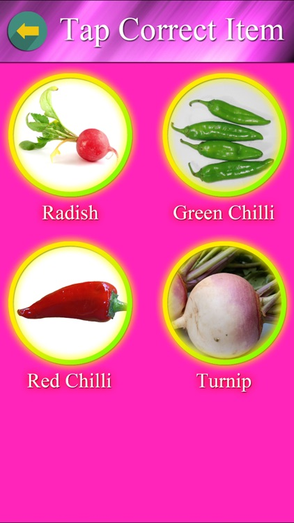 Learn Fruits and Vegetables in English screenshot-0