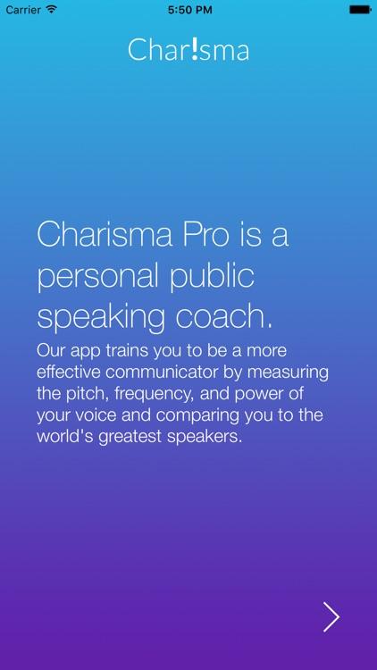 CharismaPro - Your Public Speaking Coach