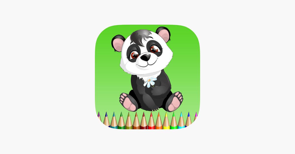 Panda Bear Boyama Kitabı çocuklar Için Panda Koala Ve Polar Bear