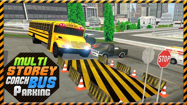 Multi-Storey Coach Bus Parking 3D: City Auto-bus Driving Simulator screenshot-3