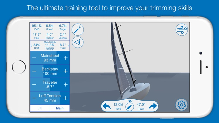 North U Sailing Trim Simulator - Virtual, Sailor, Wind, Navigation, Regatta