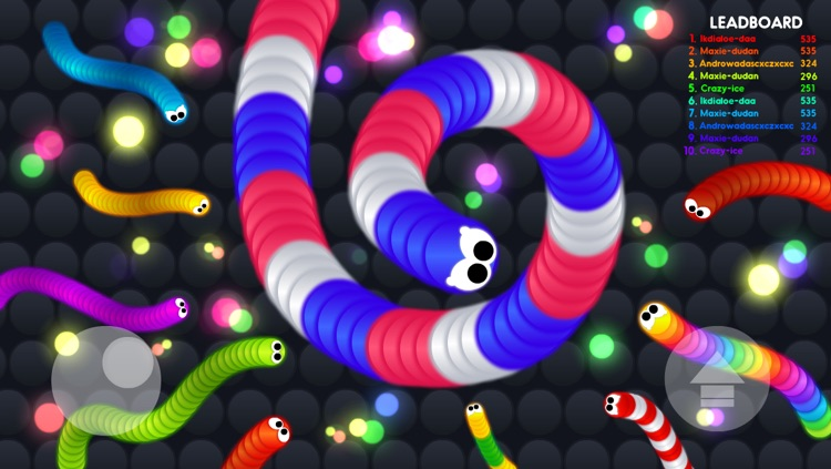 Rolling Snake.io - Worm IO Multiplayer Online Slither War Game - Free Agar Skins Version