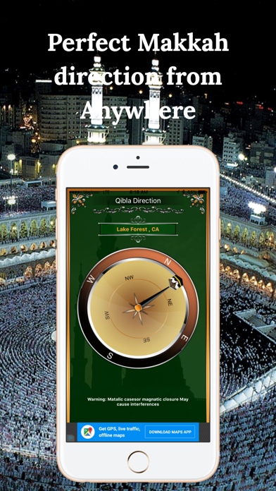 Qibla Compass-Find Direction screenshot one